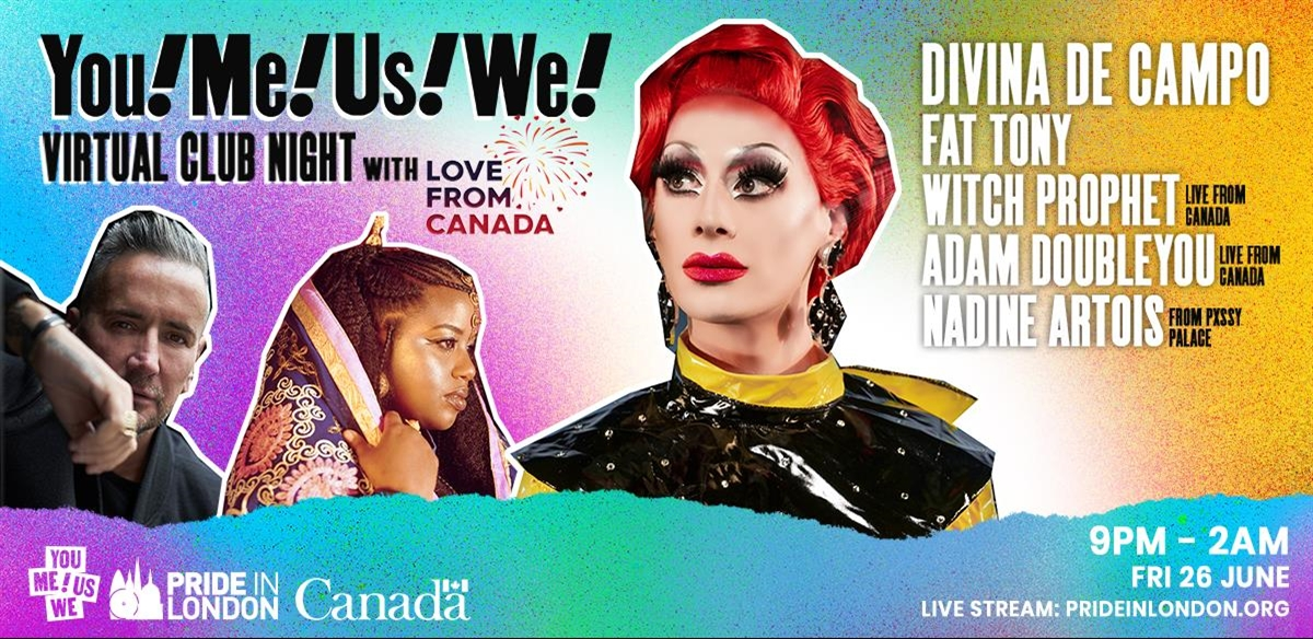 YouMeUsWe – Virtual Club Night, With Love From Canada