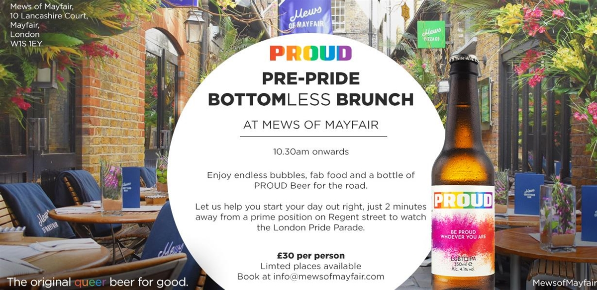 Pre Pride Parade Bottomless Brunch! tickets