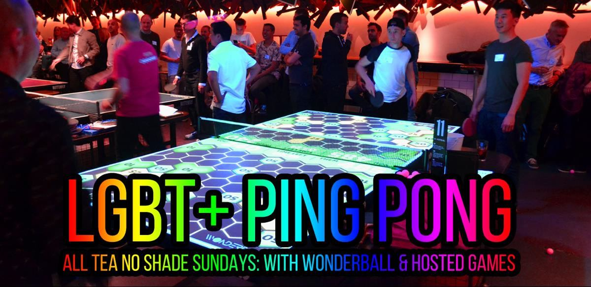 £3 Deal: LGBT+ Ping Pong, Wonderball & guru games: with the London Front Runners