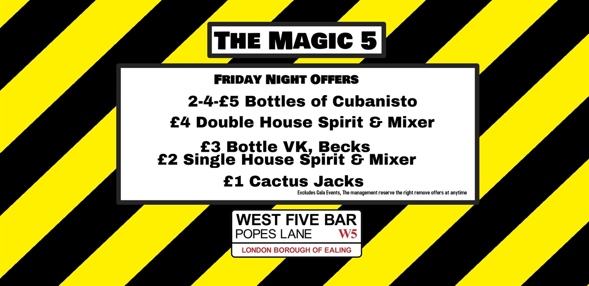 the Magic 5 with DJ Steve tickets