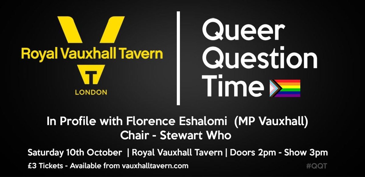 Queer Question time with Florence Eshalomi  tickets