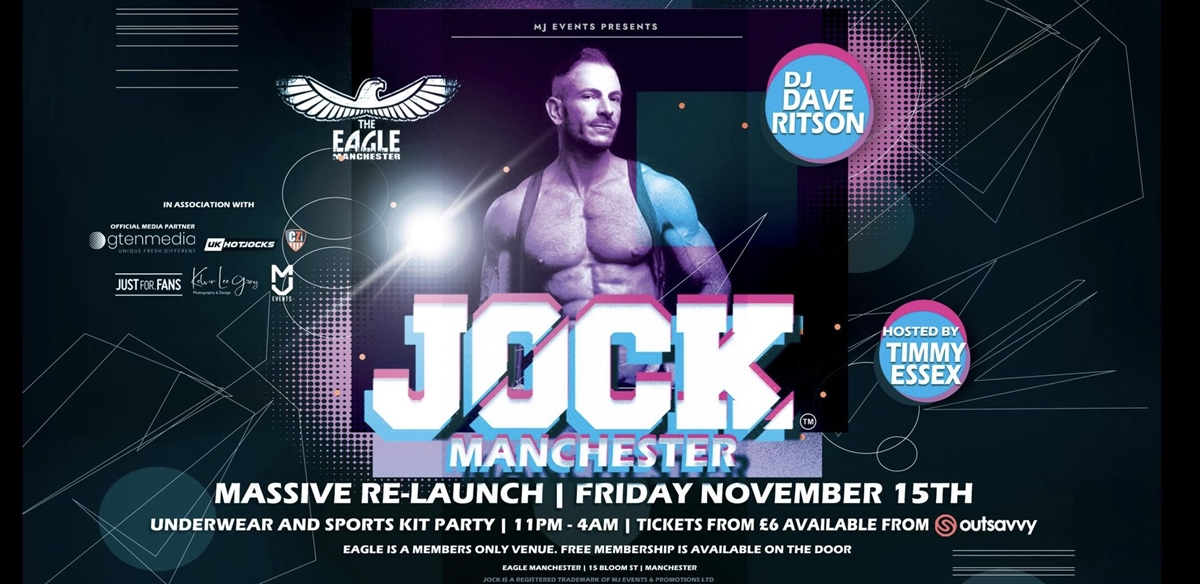 JOCK Manchester - Eagle Bar Relaunch Party tickets