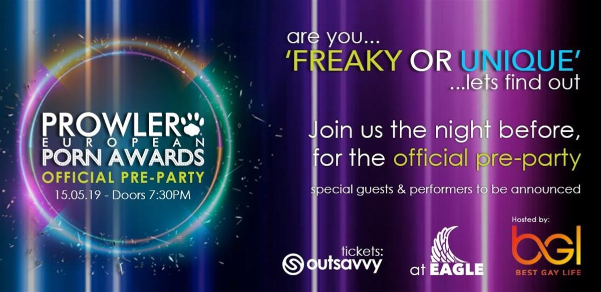 Prowler European Porn Awards - Pre Party tickets