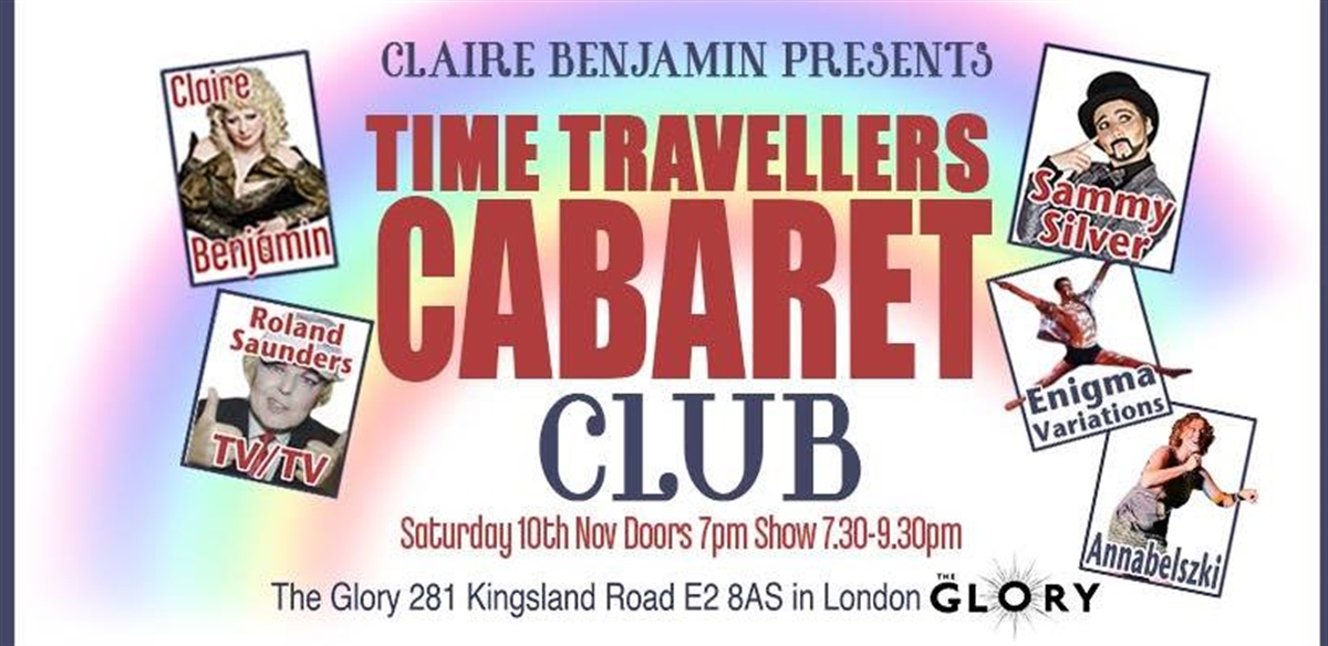 Time Travelers Cabaret Club at The Glory! November tickets