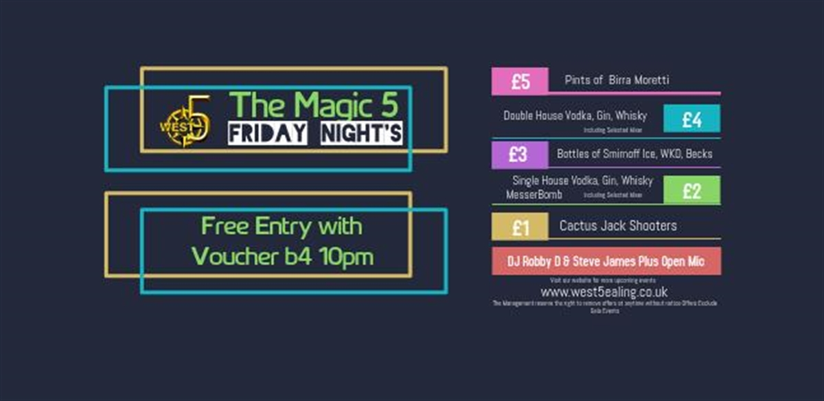 Magic 5 with DJ Robby Dee tickets
