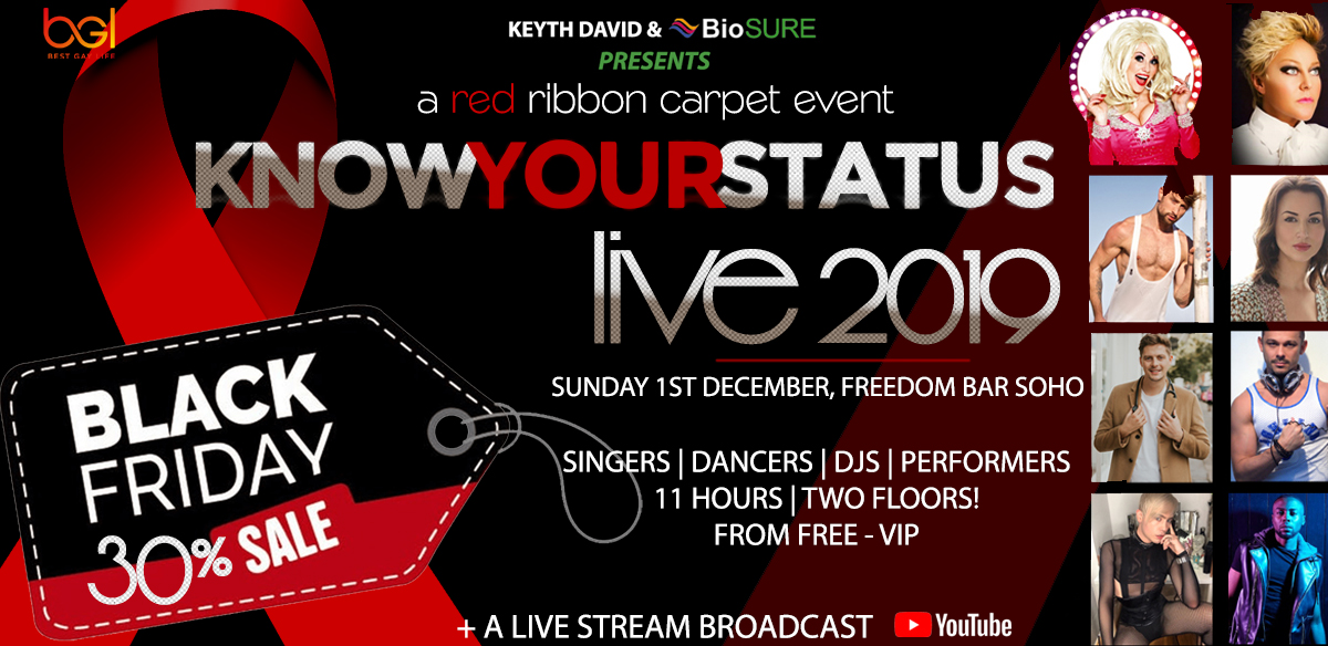 Know Your Status Live 2019 : An 11 hour, Red Ribbon Carpet Event  World Aids Day Black Friday Sale tickets