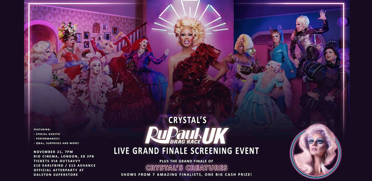 Crystal's LIVE Drag Race UK Grand Finale Screening Event!  tickets