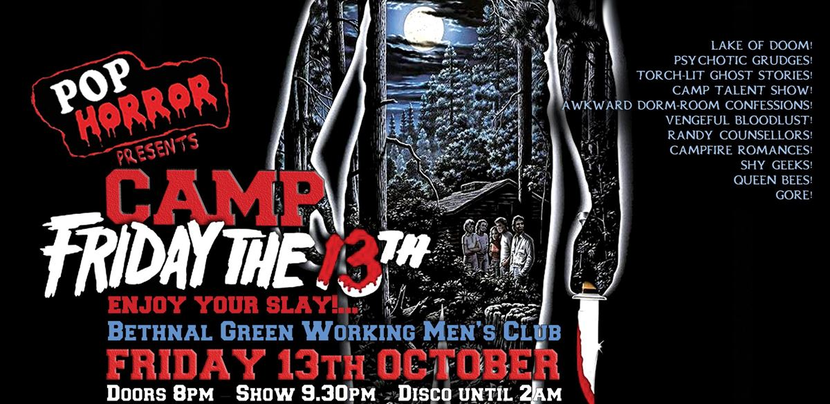 PopHorror's Camp Friday the 13th! tickets
