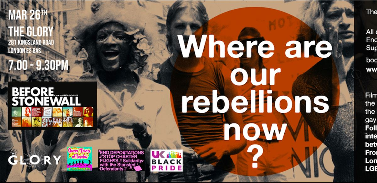 26.03.19 - Where are our rebellions now?' Before Stonewall film and panel - back by popular demand! tickets
