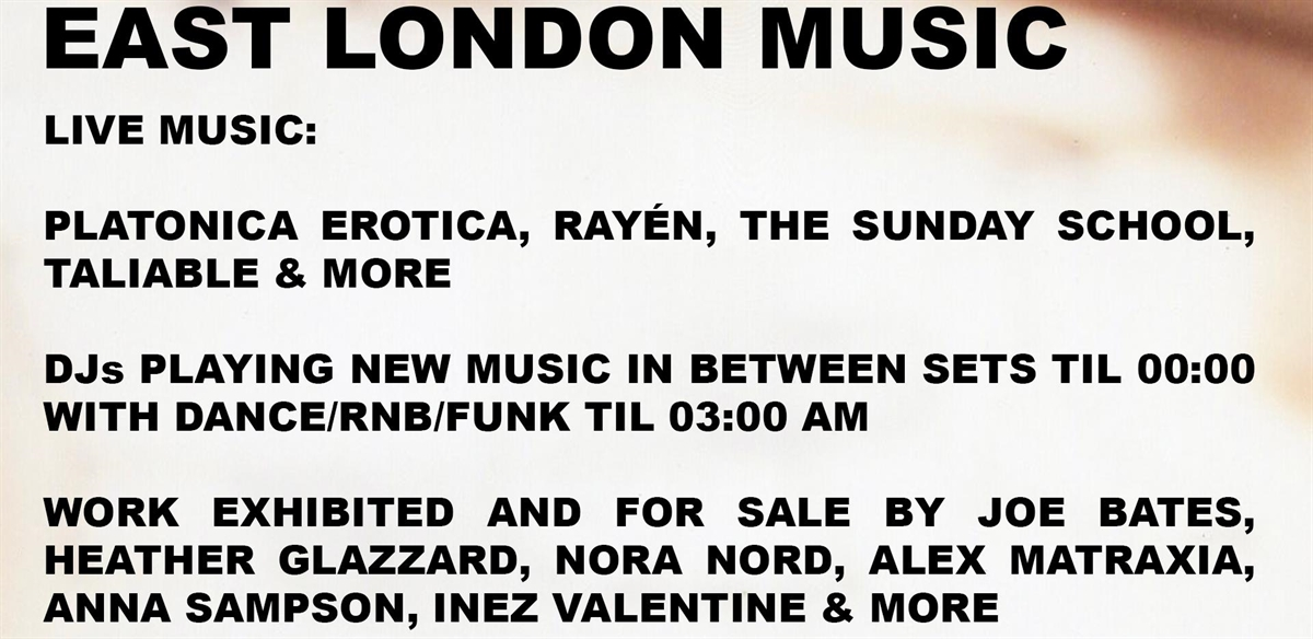 East London Music #001 tickets