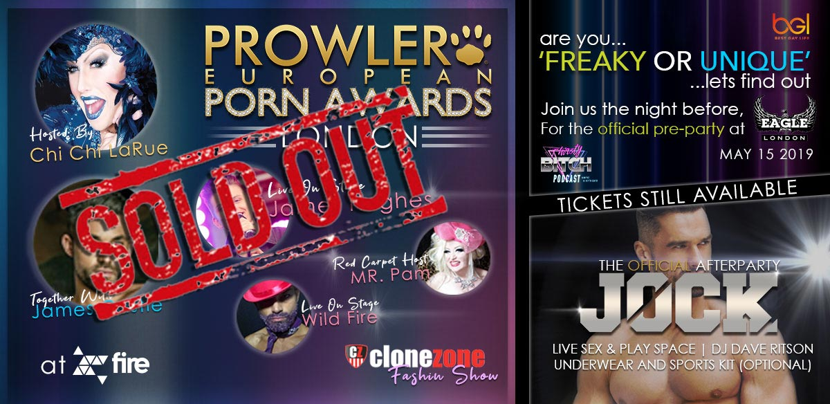 Prowler European Porn Awards 2019 tickets