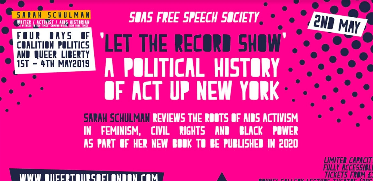'SARAH SCHULMAN - 'A witness to her times' - Coalition Politics and Queer Liberty tickets