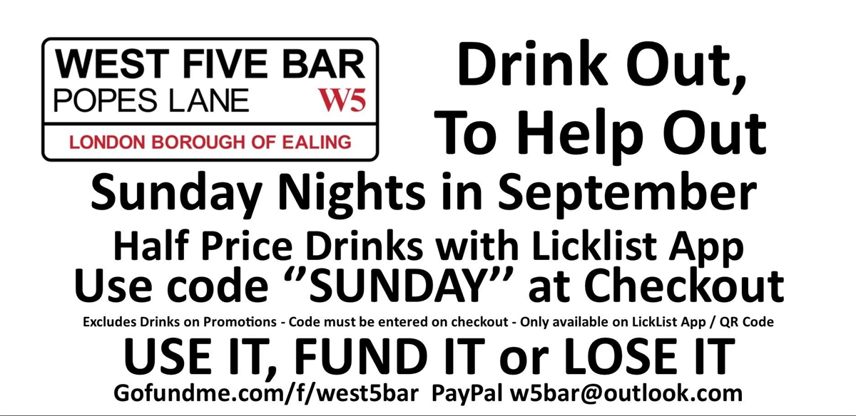 Drink Out, To Help Out Sundays tickets
