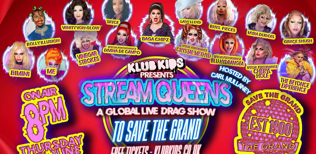 Klub Kids At The Grand – Stream Queen's – A Global LIVE drag show
