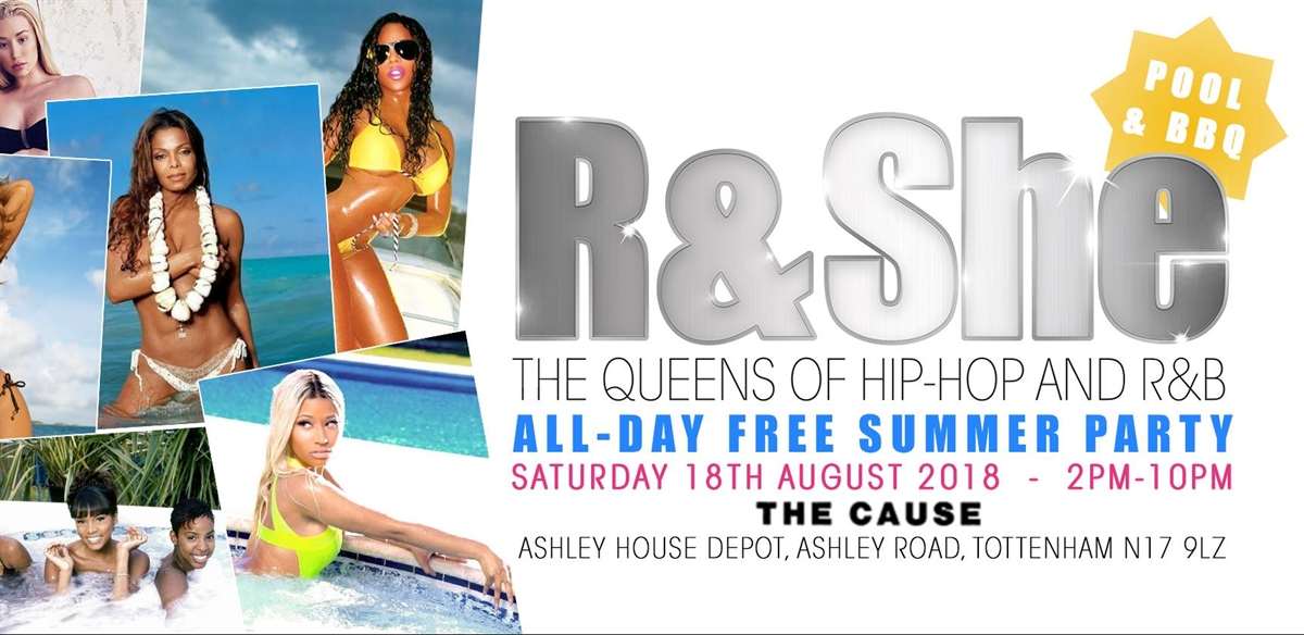 R & She: All-Day Free Summer Pool & BBQ Party! tickets