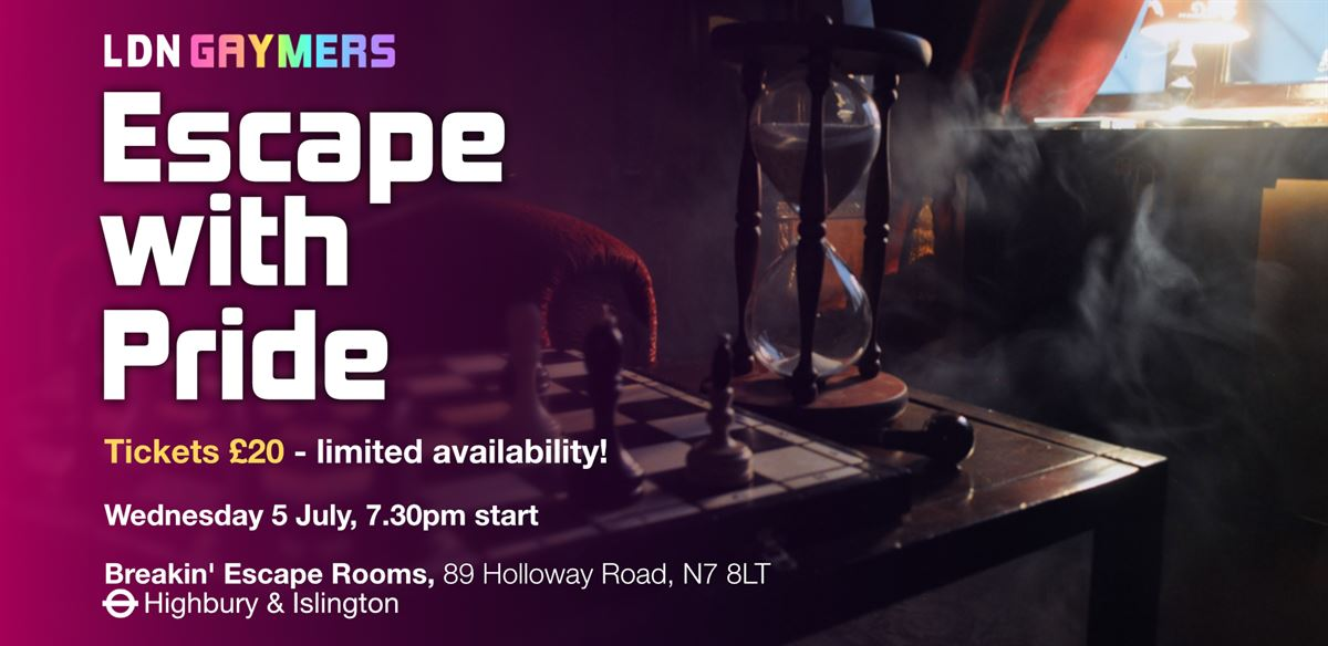 LDN Gaymers - Escape With Pride tickets