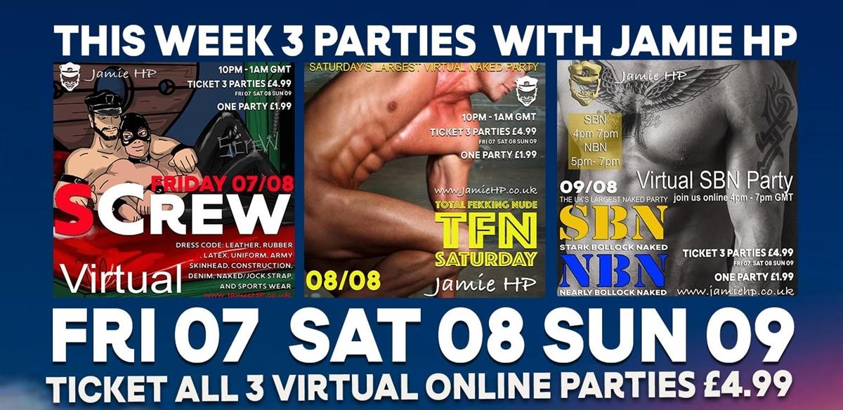 3  Event Tickets  , Screw,  TFN,  SBN  NBN,. tickets