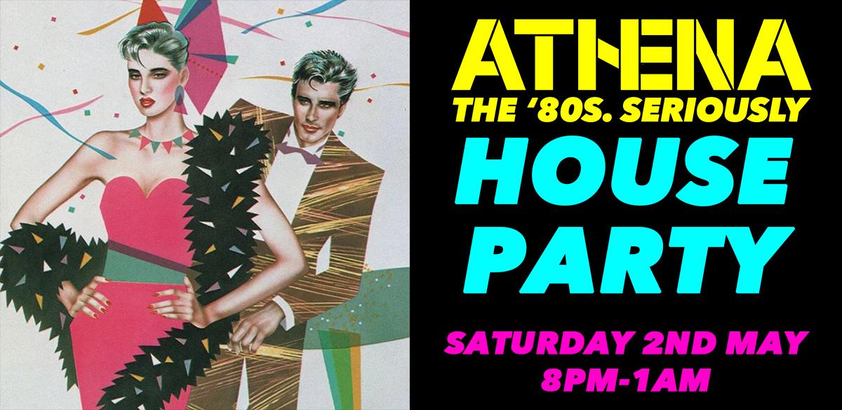 Athenas Hausparty der 80er Jahre