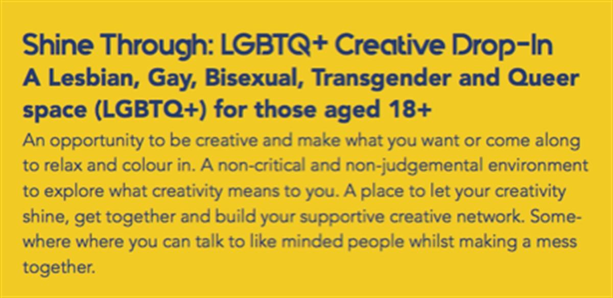 Shine Through LGBTQ+ Creative Drop-In tickets
