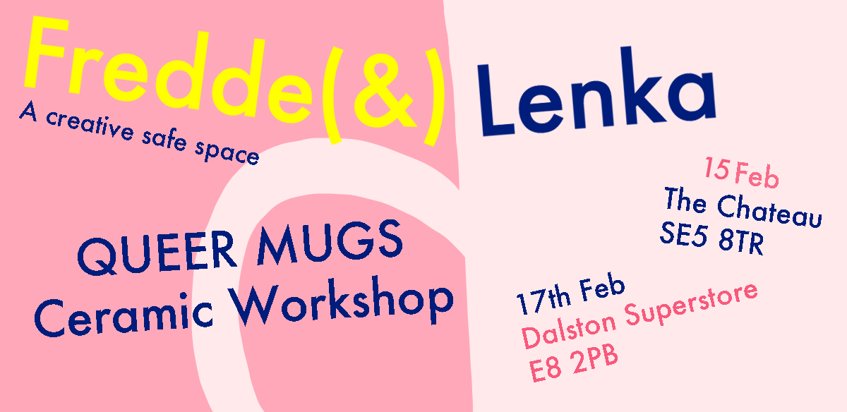 QUEER MUGS ceramic workshop tickets