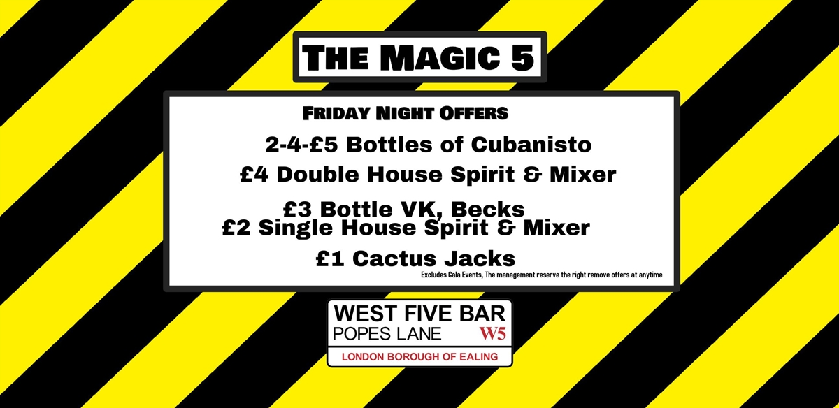 The Magic 5 with The Drag With No Name tickets