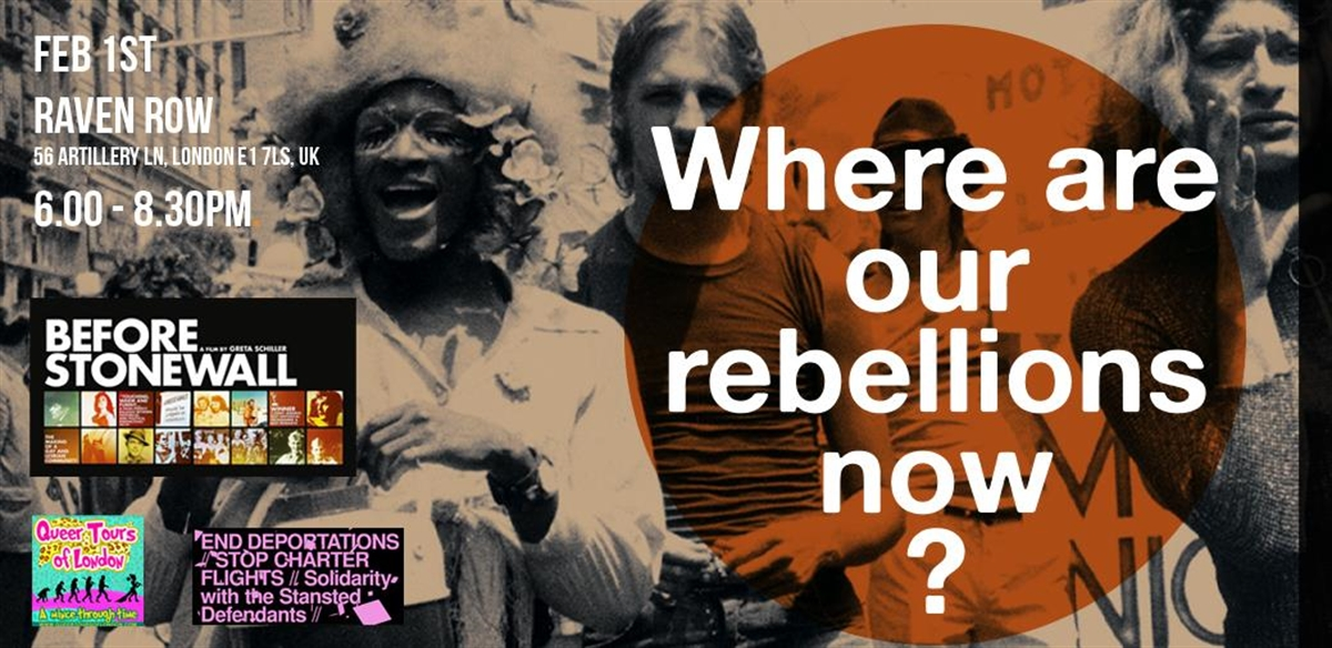 01.02.19 - 'Where are our rebellions now?' Before Stonewall film and panel  tickets