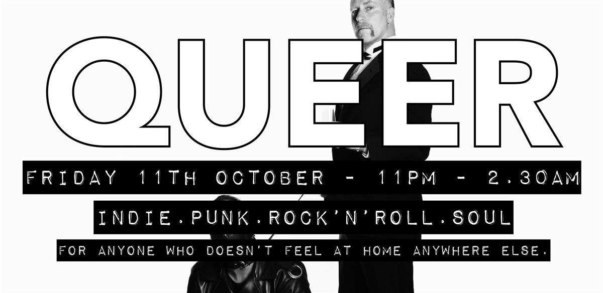 QUEER 11th OCT - Paper Dress Vintage tickets