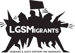 Lesbians and Gays Support the Migrants  logo