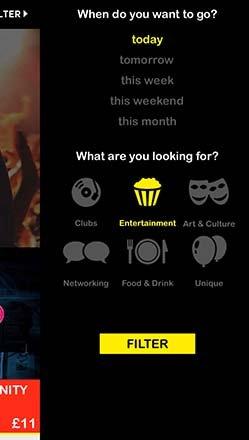 OutSavvy app screen 3