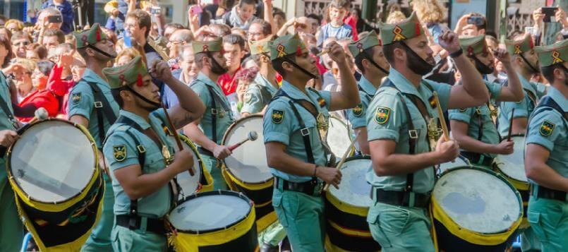 En Madrid se celebra el desfile militar el 12 de octubre
