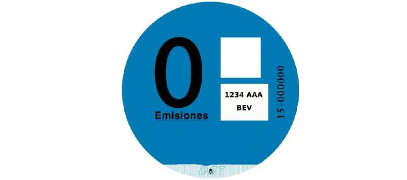 Este es el distintivo ambiental de la DGT azul