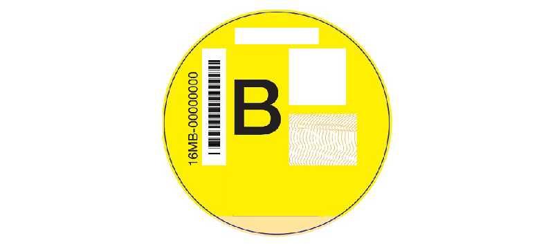 Esta es la pegatina de la DGT amarilla