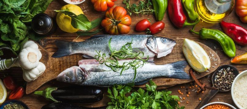 Las verduras y el pescado son buenos para prevenir la diabetes
