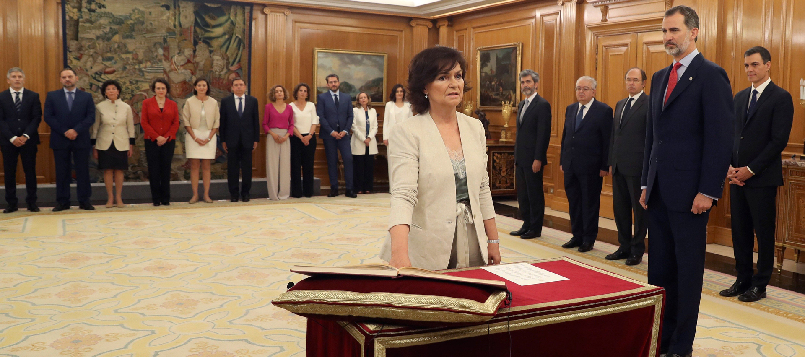Los ministros juran proteger la constitución