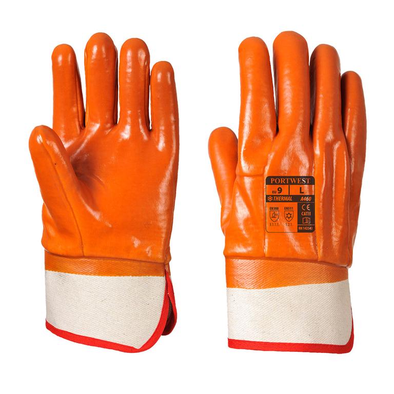 PORTWEST A460 Glue-Grip pvc//canvas//cotton thermal secure grip glove size XL-XXL