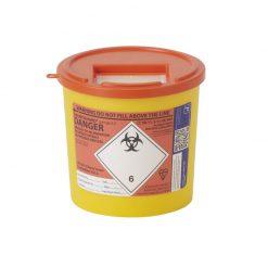 Orange 2.5l Sharps Bin