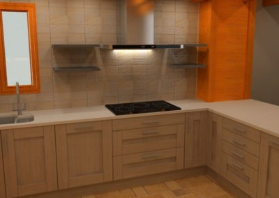3d Render of Kitchen Design