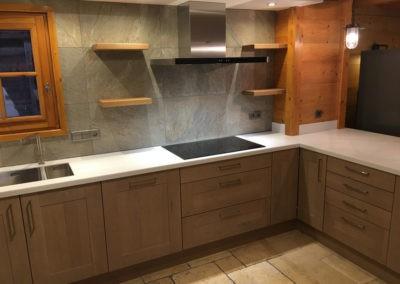 Photo of finished kitchen