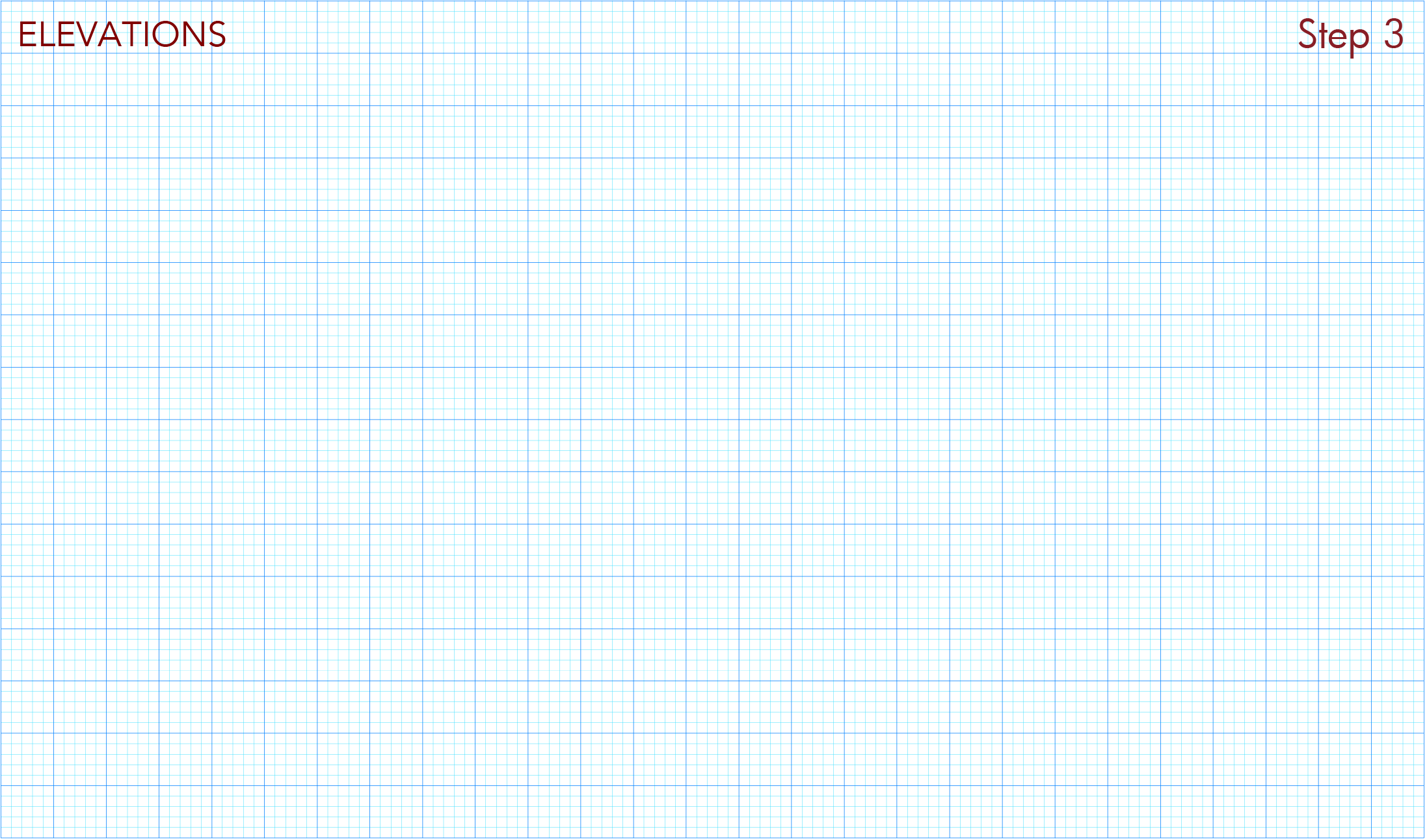 Download and print elevation graph paper