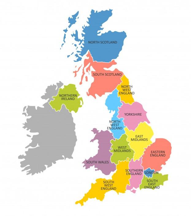 El Mapa De Reino Unido En Inglés Papora Com