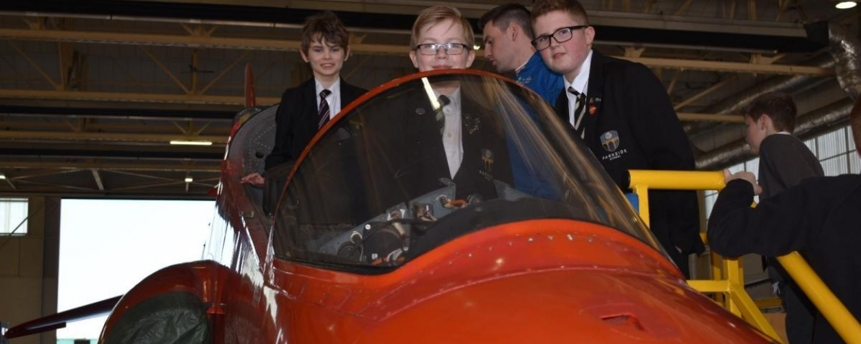 Red Arrows welcome robot team from Parkside