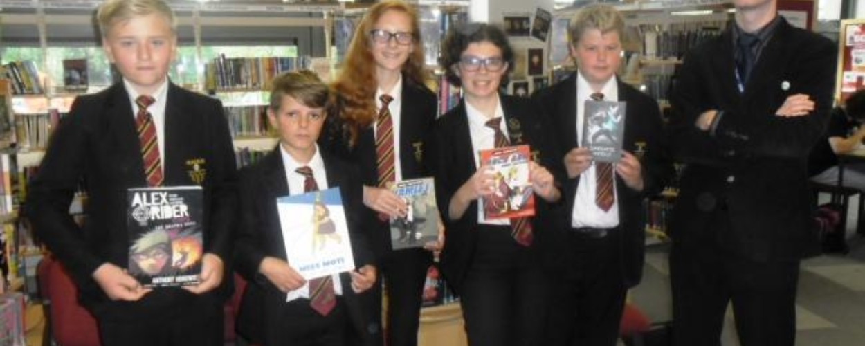 Parkside super hero creators scoop top awards in Bradford Literature Festival