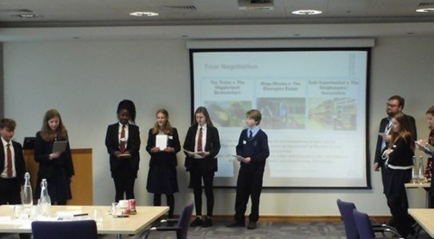 Parkside students showcase their enterprise skills at an international corporate law firm