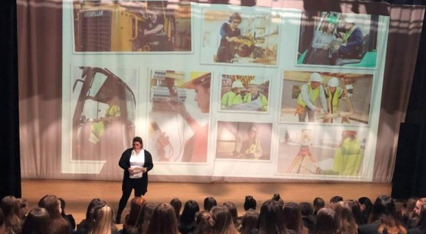 No brick wall for girls wanting to be builders!