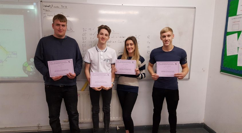 Parkside School quartet take part in Leeds maths competition