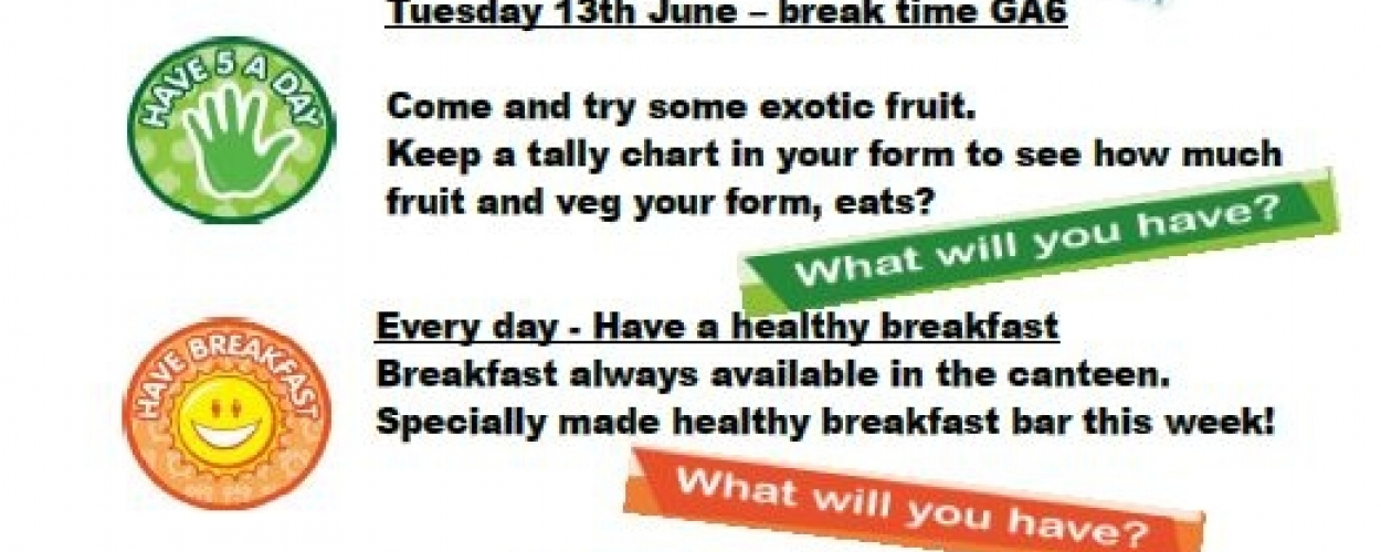 Healthy Eating week at Parkside School
