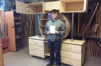Jonathan makes a mark in the furniture industry