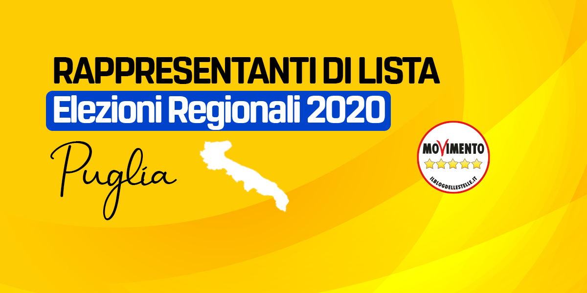 RDL PUGLIA - REGIONALI 2020