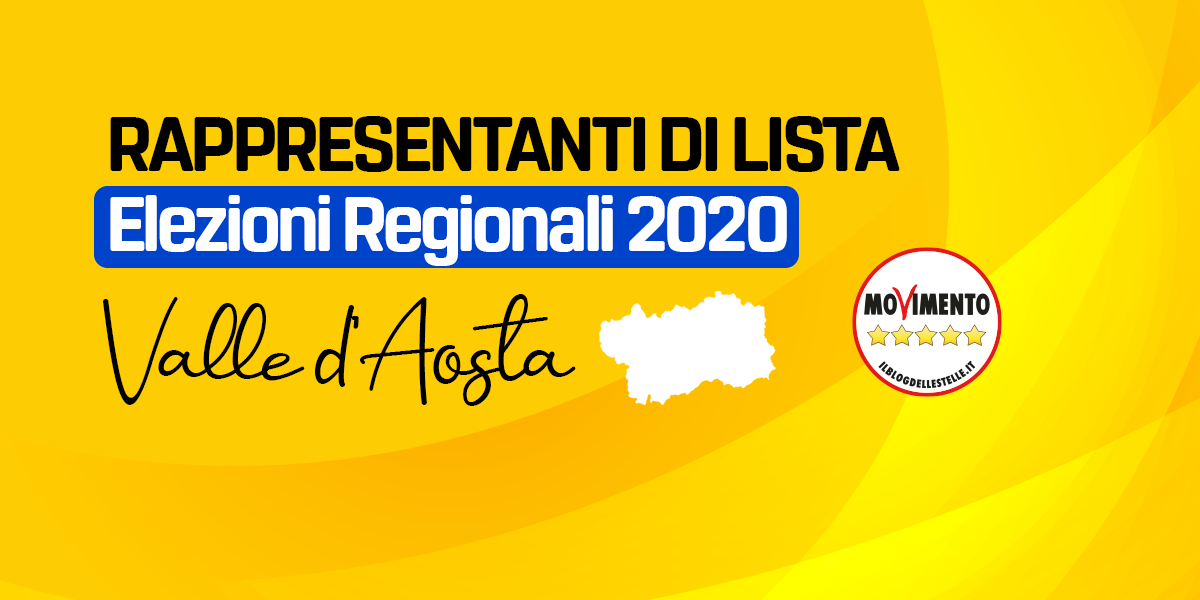 RDL VALLE D'AOSTA - REGIONALI 2020