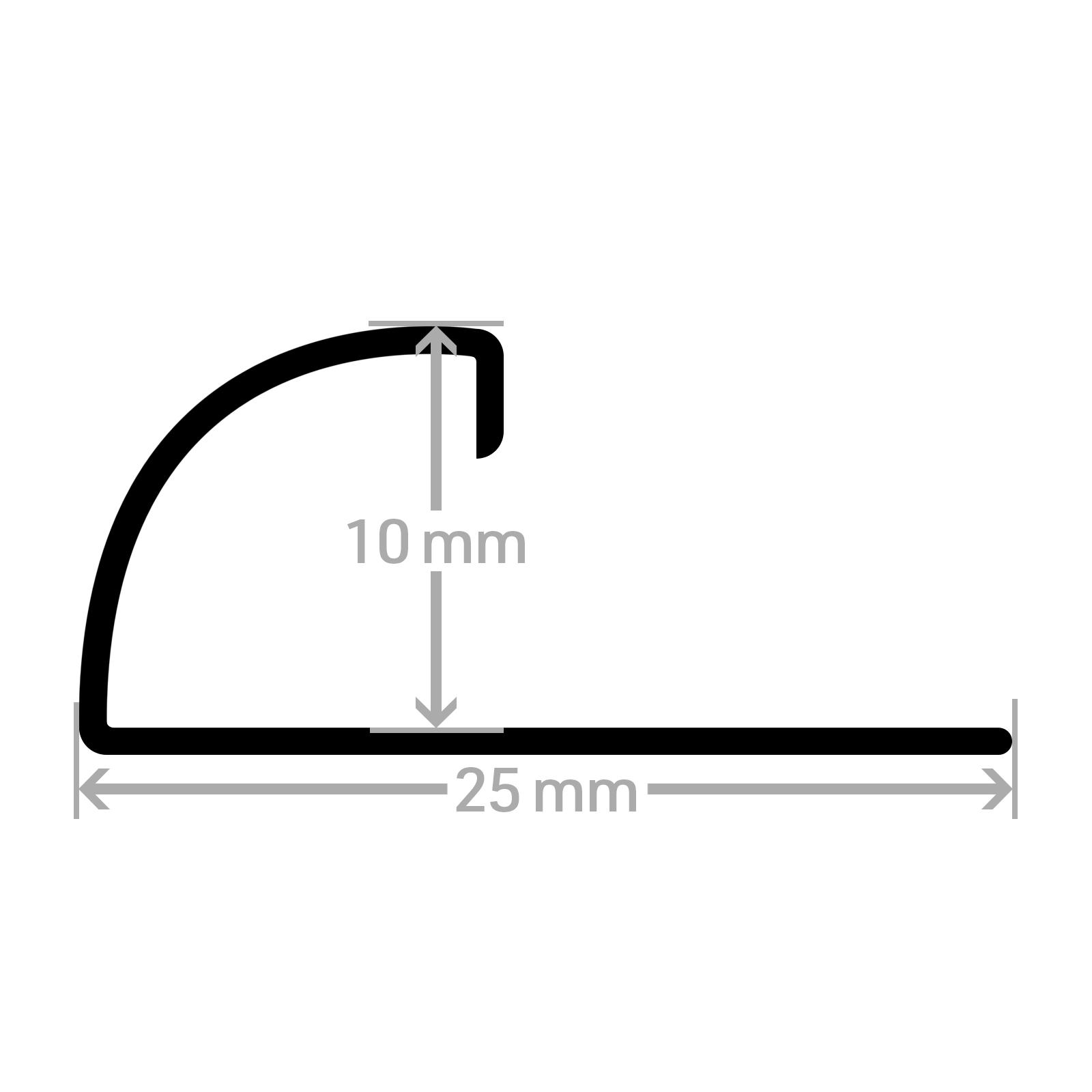 3-60-m-HORI-Fliesenprofil-Fliesen-Schiene-Edelstahl-V2A-Quadro-Winkel-250cm Indexbild 17